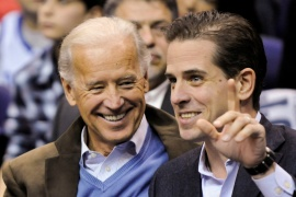 United States Democratic presidential candidate Joe Biden has faced questions about the business dealings of his son, Hunter [File: Jonathan Ernst/Reuters]