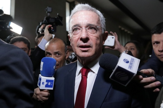Colombia's Supreme Court issued a house arrest order against former president Alvaro Uribe in August [File: Luisa Gonzalez/Reuters]