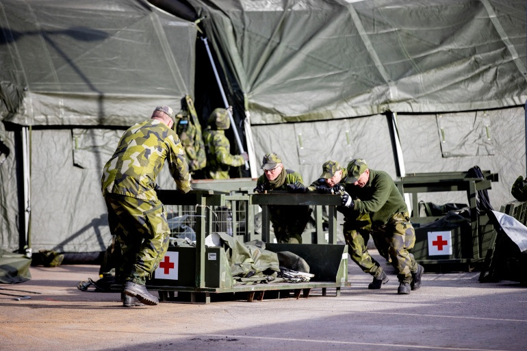 In December 2017, Sweden decided to establish the nation's first new military regiment since World War II - a unit of 350 soldiers based on the strategically important Baltic Sea island of Gotland [File: TT News Agency/Adam Ihse via Reuters]