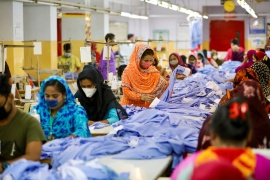 Garment manufacturers in Bangladesh say the fashion brands they supply are forcing them to accept price cuts of between 5 and 15 percent [File: Mohammad Ponir Hossain/Reuters]