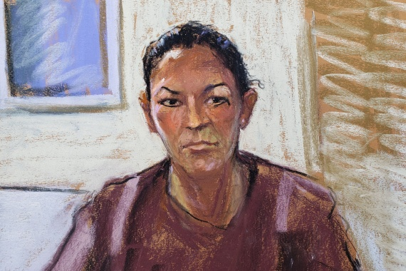Ghislaine Maxwell appears via video link in this courtroom sketch during her arraignment hearing where she was denied bail for her role aiding Jeffrey Epstein to recruit and eventually abuse of minor girls on July 14, 2020 [File: Jane Rosenberg/Reuters]