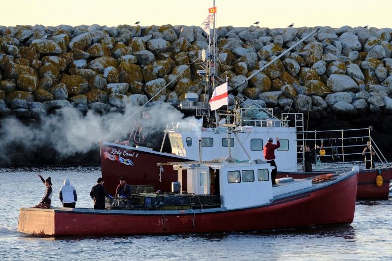 Last month, Sipekne'katik First Nation launched a 'moderate livelihood' fishery, operating outside Canada's federally regulated fishing season [Ted Pritchard/Reuters]