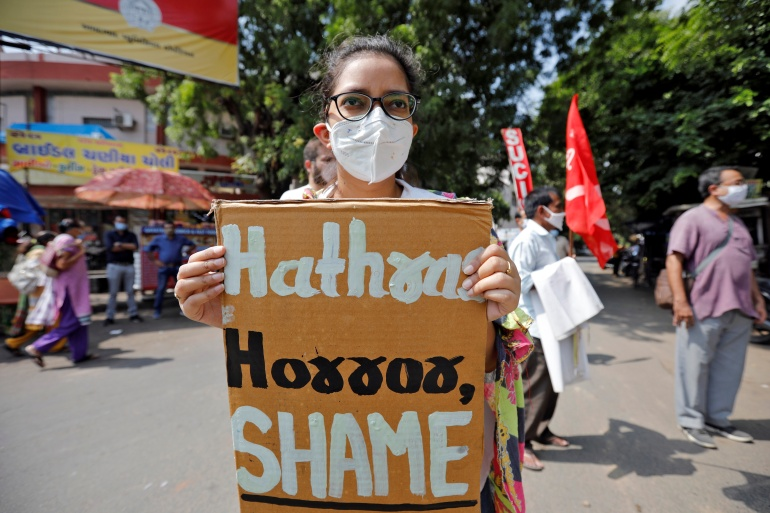 Hathras gang rape: India police suspended amid public outcry | India | Al Jazeera