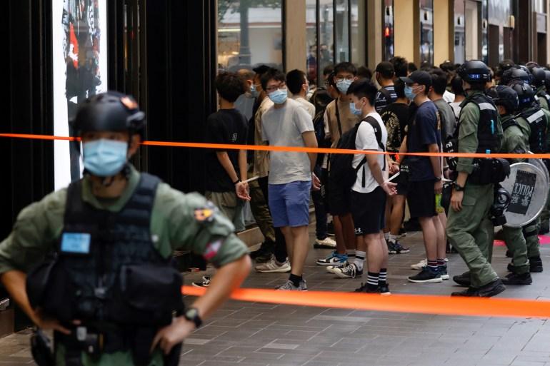Dozens Arrested As Hong Kong Marks China S National Day China Al Jazeera