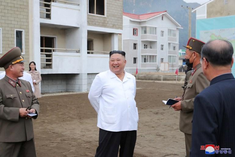 N Korea S Leader Kim Jong Un And Sister Visit Flood Hit Village North Korea Al Jazeera