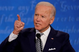 Democratic presidential nominee Joe Biden is expected to campaign in Florida on Monday [File: Brian Snyder/Reuters]
