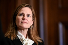 Republicans have been working to confirm Amy Coney Barrett before the US election [File: Erin Scott/Pool/AP Photo]