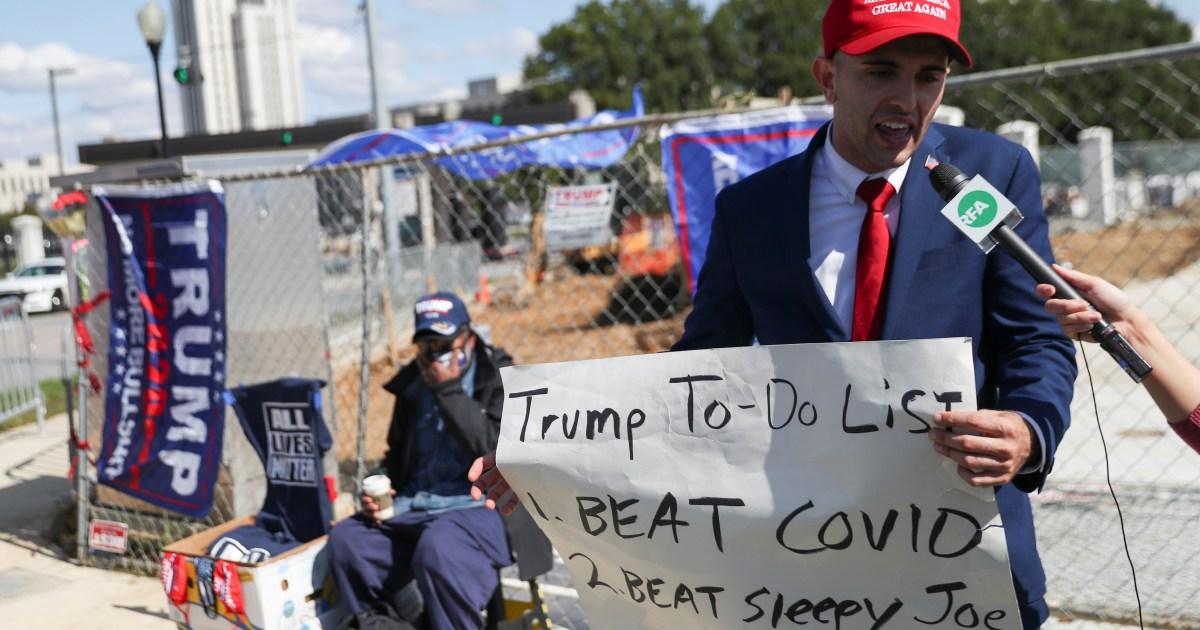 US COVID-19 deaths surpass 210,000 as Trump set to leave hospital thumbnail