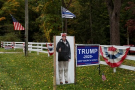 The Trump campaign and Republicans are recruiting poll watchers, worrying voting rights activists [File: Shannon Stapleton/Reuters]