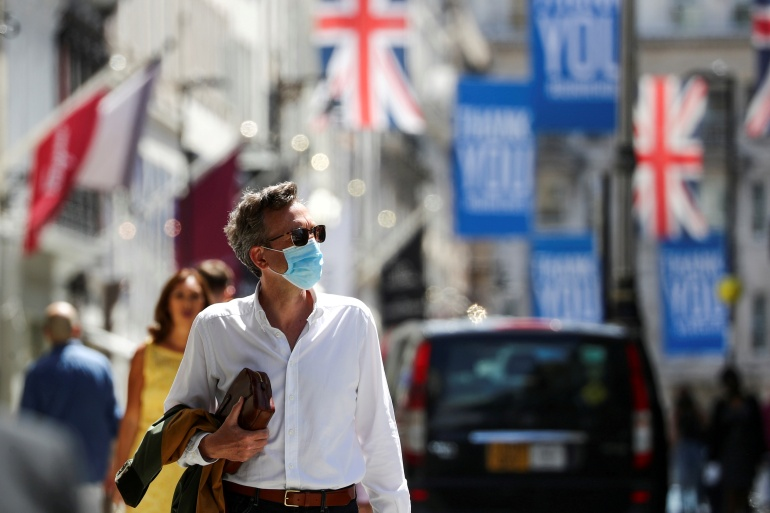 The coronavirus outbreak in the UK has led to business closures and severe restrictions [File: Simon Dawson//Reuters]