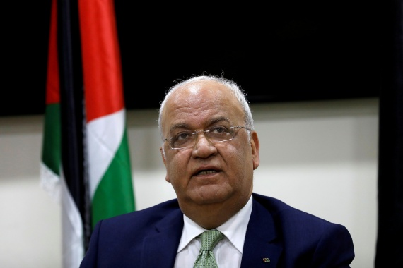 Erekat is also one of the most senior advisers to Palestinian President Mahmoud Abbas [File: Mohamad Torokman/Reuters]