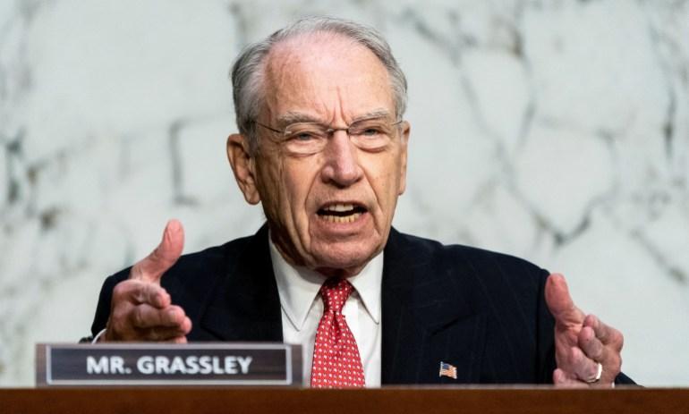 Senate again questions Supreme Court nominee: US election news