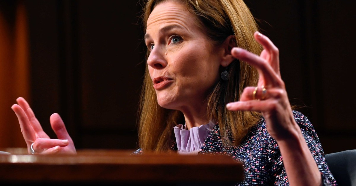 The Amy Coney Barrett hearings were political theatre thumbnail