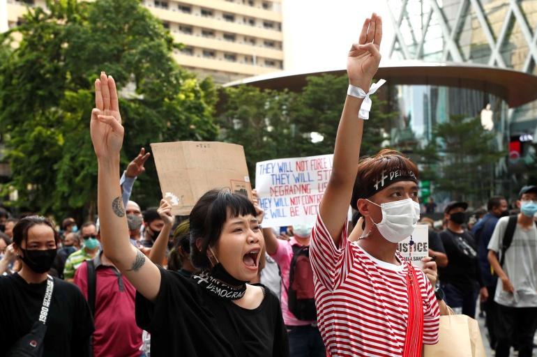 Thai protesters rally in Bangkok defying state of emergency | Thailand | Al  Jazeera