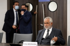 Head of Libya's Government of National Accord delegation, Ahmed Ali Abushahma, attends the talks between the rival factions in Geneva [Fabrice Coffrini/Reuters]