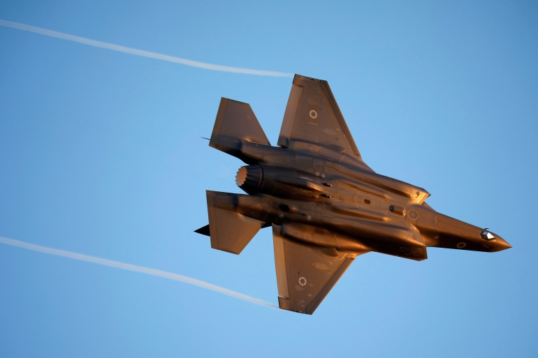 An Israeli Air Force F-35 fighter jet flies during an aerial demonstration [File: Amir Cohen/Reuters]