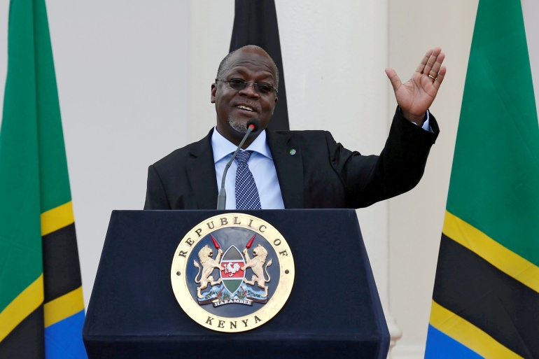 Magufuli was seeking a second five-year term and promised voters he will boost the economy [File: Thomas Mukoya/Reuters]