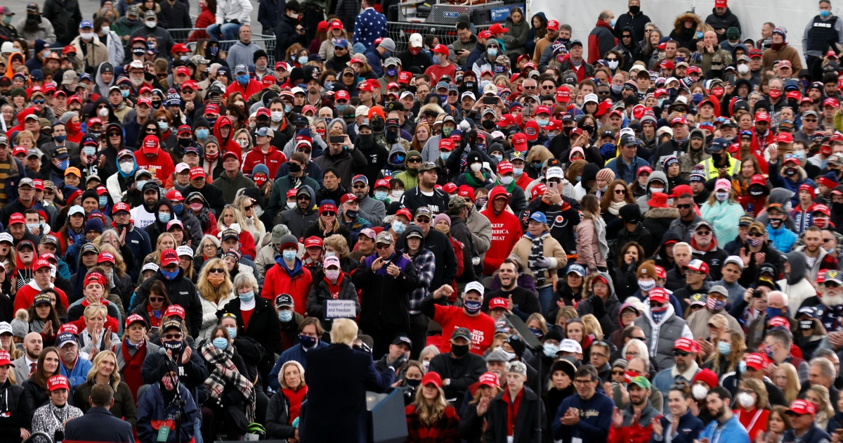 Trump rallies linked to thousands of COVID-19 cases, study finds