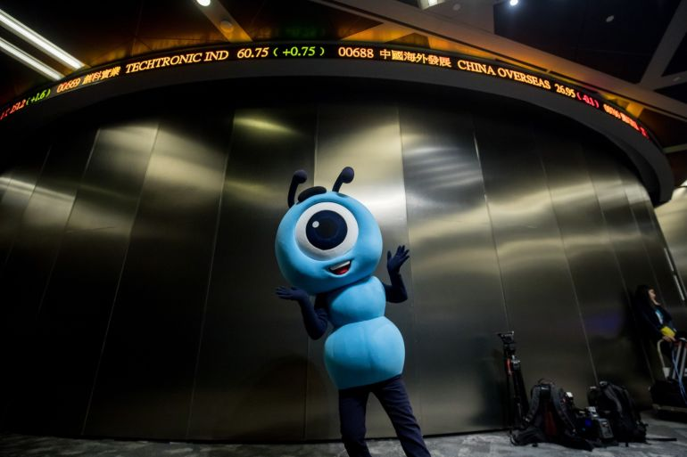 Ant, China's biggest payments company, is waiting for approval from Hong Kong for its listing [File: Paul Yeung/Bloomberg]