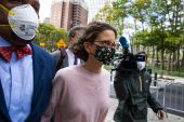 Clare Bronfman, 41, the youngest daughter of former Seagram chairman Edgar M Bronfman, had pleaded guilty in April 2019 to her involvement in an organisation that allegedly manipulated, enslaved and blackmailed its members [Paul Frangipane/Bloomberg]