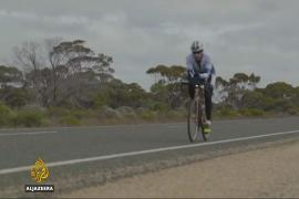Cyclist to finish record-breaking 'around the world in 80 days