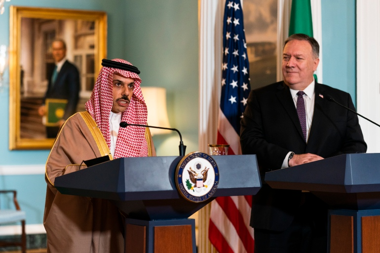 Prince Faisal bin Farhan's remarks came during a virtual discussion hosted by the Washington Institute for Near East Policy [File: Manuel Balce Ceneta/AP]