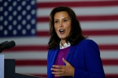 Michigan Governor Gretchen Whitmer has said Trump's rhetoric puts her in danger [File: Carolyn Kaster/The Associated Press]