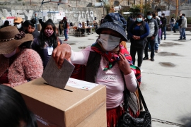 Voters took precautions against COVID-19 [Juan Karita/AP Photo]