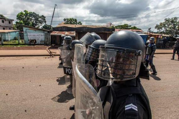Hundreds of people were arrested during Guinea's election period [File: Sadak Souici/AP Photo]