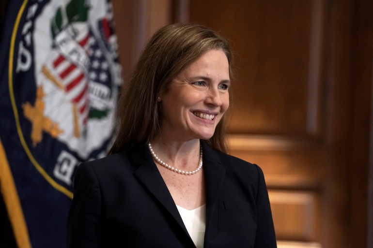 Amy Coney Barrett joins the Supreme Court: US election news | US & Canada |  Al Jazeera