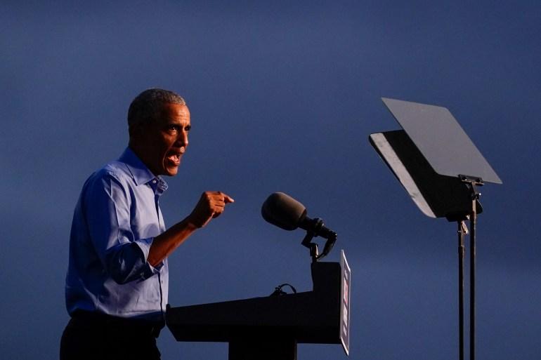 Obama Campaigns In Pennsylvania For Biden Us Election News Us Canada Al Jazeera