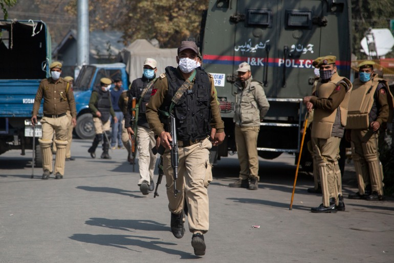 Kashmiri rebel groups have intensified attacks since the region's semi-autonomous status was revoked last year [Mukhtar Khan/AP]