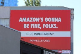 After Amazon.com Inc raked in record profits with its October Amazon Prime Day event, some small businesses are worried that customers have already shelled out their holiday dollars even as they struggle to keep their doors open [Courtesy: Powell's Books]