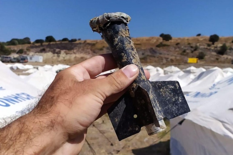 Fragments of old ammunition have been found at Kara Tepe, raising fears of lead poisoning [Courtesy: Aegean Boat Report]