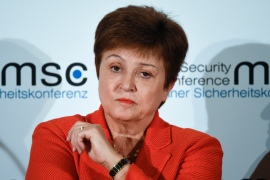 IMF head Kristalina Georgieva said global economic activity suffered an unprecedented drop when 85 percent of the global economy was in lockdown for weeks [File: Jens Meyer/AP Photo]