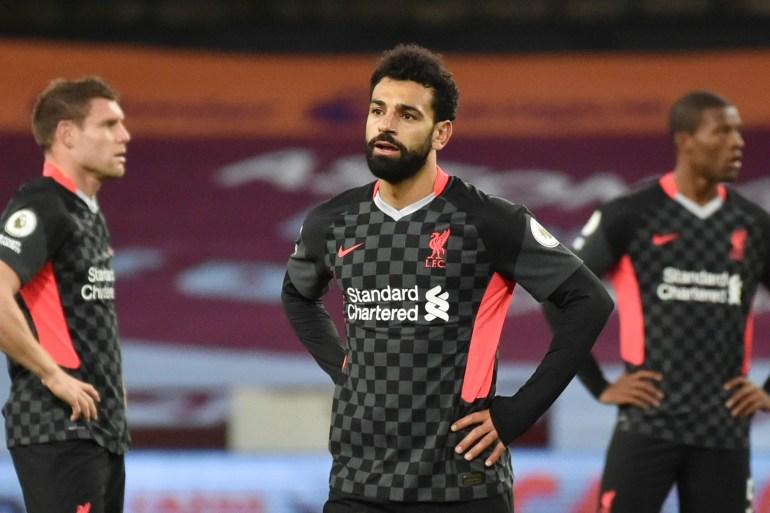 Liverpool menjalani pertandingan mereka di Villa Park yang kosong dengan rekor 100 persen di liga musim ini [Reuters]