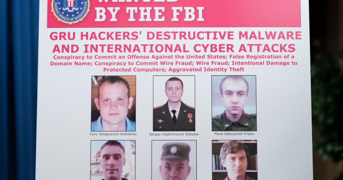 US charges six Russian military officers over cyberattacks