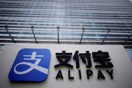 Alipay, owned by Ant Group which is an affiliate of Chinese e-commerce giant Alibaba, is one of the payment apps being targeted by the Trump administration [File: Aly Song/Reuters]