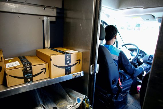 For several years, Amazon has sought to bring order to its far-flung delivery operations, which were plagued by accidents and complaints about thrown packages [File: Kevin Mohatt/Reuters]