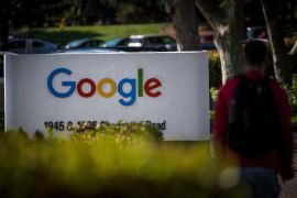 Google began dominating online search 20 years ago with an algorithm that delivered results better than others'; and while it is not illegal to be a monopoly under US law, it is a violation for a dominant company to engage in exclusionary conduct to protect or strengthen its market power [File: David Paul Morris/Bloomberg]