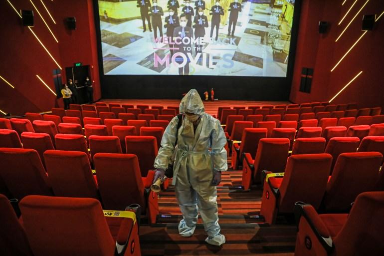Indian Cinemas Reopen Amid Fewest Coronavirus Deaths In 11 Weeks India Al Jazeera