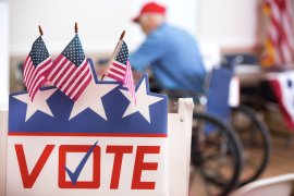 Voter at US polls - stock image (GETTY) (Getty Images)