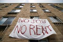 A national moratorium on evictions, unemployment benefits for the self-employed and gig workers, and student loan repayment relief are all set to lapse at the end of this month [File: Sarah Silbiger/Reuters]