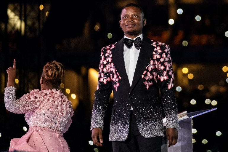 Pastor Shepherd Bushiri and his wife, Mary, were granted bail on condition that they would confine themselves to South Africa's Gauteng province [File: Wikus De Wet/AFP]