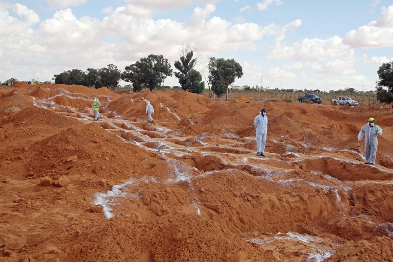 Libya's GNA Interior Minister Fathi Bashagha said the graves represented 'atrocious acts' that cannot go unpunished [File: Mahmud Turkia/AFP]