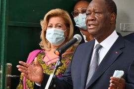 President Ouattara received more than 90 percent in most districts in Saturday's vote [Issouf Sanogo/AFP]