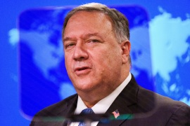 US Secretary of State Mike Pompeo accused Banco Financiero International SA of having ties to the Cuban military and using its profits to fund 'interference' in Venezuela [File: Jacquelyn Martin/Pool via AFP]