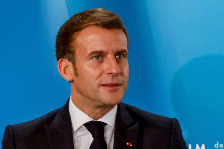 Recent attacks have prompted tougher rhetoric from President Macron against what he calls 'Islamist separatism' [Ludovic Marin/Pool/AFP]