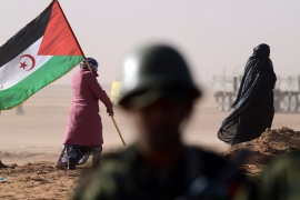 Western Sahara separatists say Morocco invaded a buffer zone, but Moroccan army says the Polisaro Front is blocking trade to Mauritania [Farouk Batiche/AFP]