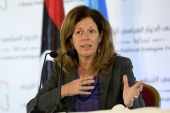 United Nations envoy Stephanie Williams criticised foreign governments for 'behaving with complete impunity' in Libya [File: Fethi Belaid/AFP]